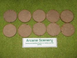 50mm ROUND LASER CUT MDF 2mm Wooden Bases for Wargames