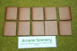 50mm x 40mm LASER CUT MDF 2mm Wooden Bases for Wargames