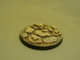 60mm Round Resin Base Cracked Earth for Fantasy of Sci-Fi RPG games