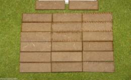 60mm x 20mm LASER CUT MDF 2mm Wooden Bases for Wargames