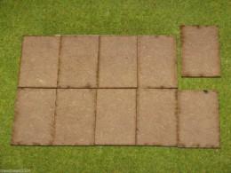 60mm x 40mm LASER CUT MDF 2mm Wooden Bases for Wargames