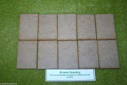 75mm x 50mm LASER CUT MDF 2mm Wooden Bases for Wargames