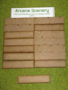 80mm x 20mm LASER CUT MDF 2mm Wooden Bases for Wargames