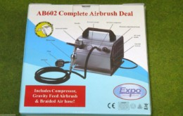 AIRBRUSH & COMPRESSOR DEAL AB602 Dual action EXPO TOOLS