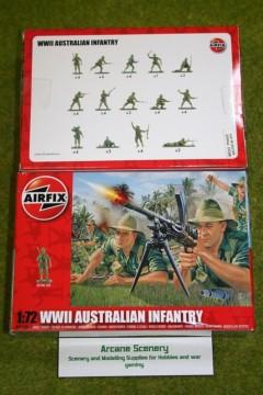 AIRFIX WWII AUSTRALIAN INFANTRY 1/72 Scale 1750