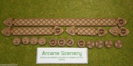SAGA MEASURING STICKS AND FATIGUE COUNTER SET for ANGLO-DANISH or SAXONS