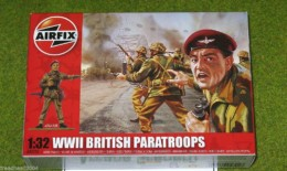 Airfix British Paratroops 1/32 Scale hard Plastic Figs 2701