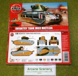 Airfix MATILDA MKII INFANTRY TANK 1/76 Scale Kit 1318