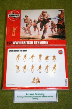 Airfix WWII 8th ARMY British Infantry 1/72 Scale 1709