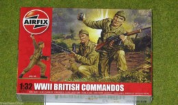 Airfix WWII British Commandos 1/32 Scale hard Plastic 2705
