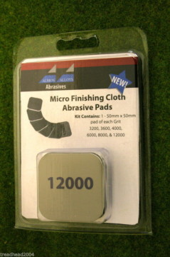 Albion Alloys MICRO FINISHING CLOTH ABRASIVE PADS set of 6 pads 2000