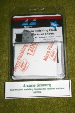 Albion Alloys MICRO FINISHING CLOTH ABRASIVE SHEETS set of 8 Sheets 2050A