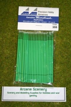 Albion Alloys Microbrush applicators – Microbrush regular/green Pack of 25 355