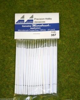 Albion Alloys Microbrush applicators – Microbrush superfine/white Pack of 25 357