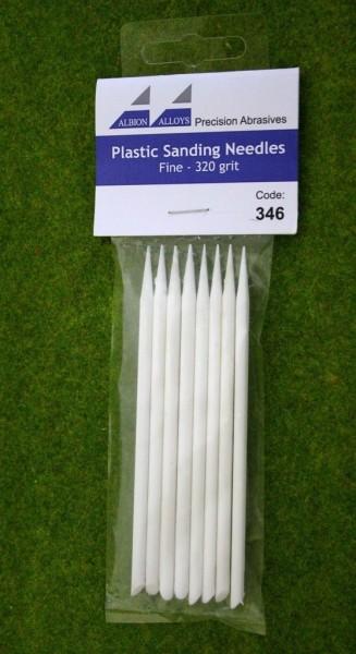 Albion Alloys PLASTIC SANDING NEEDLES FINE 320 grit  Code 346