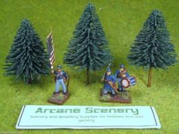 Arcane Scenery Pack of 3  Medium Fir Trees