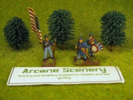 Arcane Scenery Pack of 3 Small Dark Green Trees