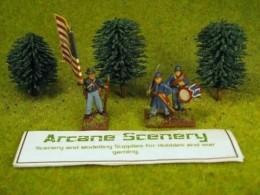Arcane Scenery Pack of 3 Small Dark Green Trees