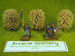 Arcane Scenery Pack of 3 Small Light Green Trees
