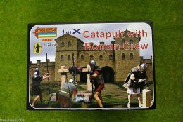 CATAPULT with Roman Crew 1/72 Scale Strelets A009
