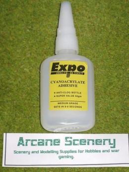 CYANOCRYLATE ADHESIVE 50gms bottle 'super glue' Medium