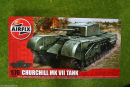 Churchill MkVII 1/76 Scale Airfix Military Kit 1304