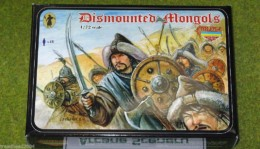 DISMOUNTED MONGOLS WARRIORS 1/72 Strelets miniset M028