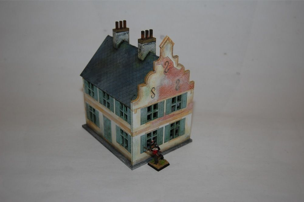 North european townhouse 3 28mm laser cut mdf scale for European townhouse