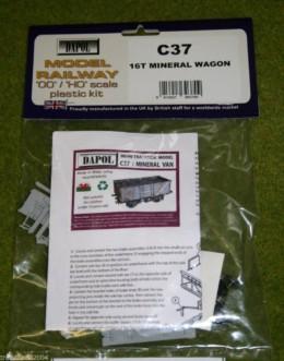 Dapol 16 Ton MINERAL WAGON 1/76 Scale scenery Kit 00/HO C37