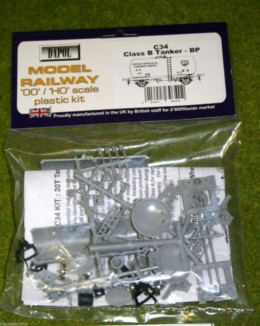 Dapol CLASS B TANKER BP 1/76 Scale scenery Kit 00/HO C34