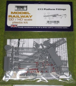 Dapol PLATFORM FITTINGS – C13 – 1/76 Scale scenery Kit 00/HO