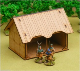 Dark Age CART BARN/STABLE/FORGE 28mm Laser cut MDF scale Building  J010