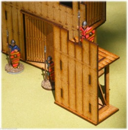 Dark Age PALISADE 1/2 STRAIGHT 28mm Laser cut MDF scale Building  J004