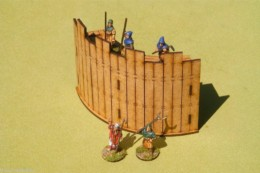 Dark Age PALISADE CORNER 28mm Laser cut MDF scale Building  J002