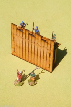 Dark Age PALISADE FULL STRAIGHT 28mm Laser cut MDF scale Building  J005