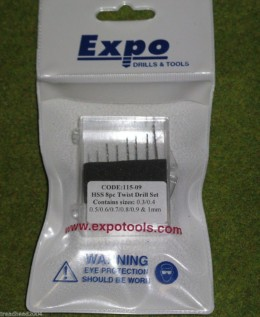 Expo Drill set 8 fine twist drills  Expo Tools 11509