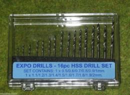 Expo Tools 16 piece HSS TWIST DRILL SET 11516