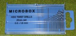 Expo Tools Drill set 20 HSS fine twist drills 11520