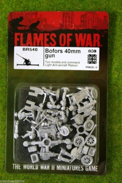Flames of War BOFORS 40mm GUN British Anti Aircraft Platoon 15mm BR540