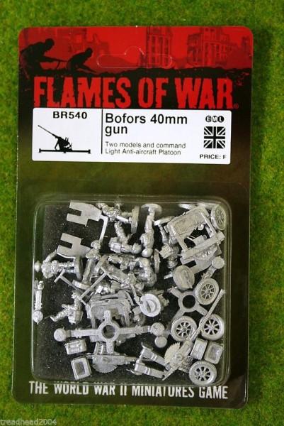 Flames of War BOFORS 40mm GUN British Anti Aircraft Platoon 15mm BR540