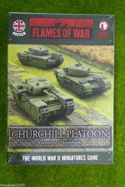 Flames of War British CHURCHILL Platoon 15mm BBX23