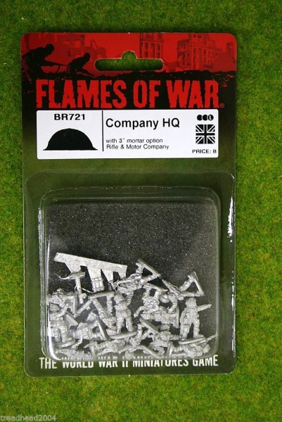 Flames of War British Company HQ 15mm BR721