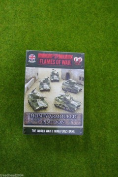 Flames of War British HONEY/STUART Platoon 15mm BBX25