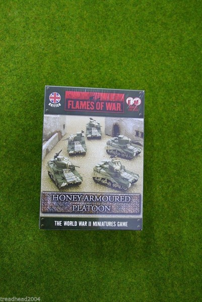 Flames of War British HONEY/STUART Platoon 15mm BBX25