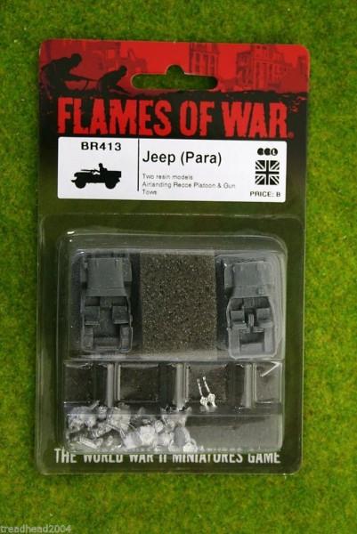 Flames of War British Jeep Para 15mm BR413