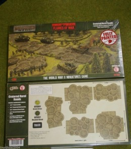 Flames of War CRATERED RURAL ROADS painted tabletop terrain 15mm BB143