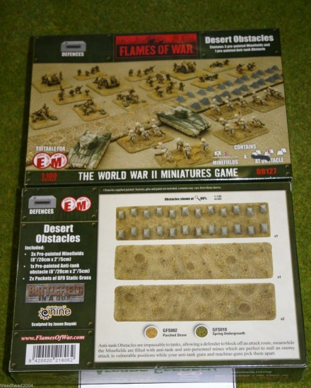 Flames of War DESERT OBSTACLES painted tabletop terrain 15mm BB127