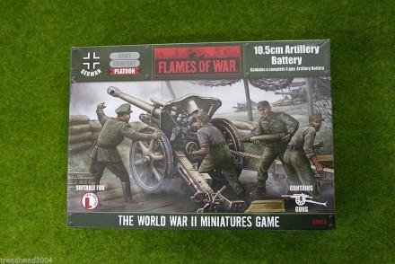 Flames of War GERMAN 10.5 LeFH18 Artillery Battery 15mm GBX13