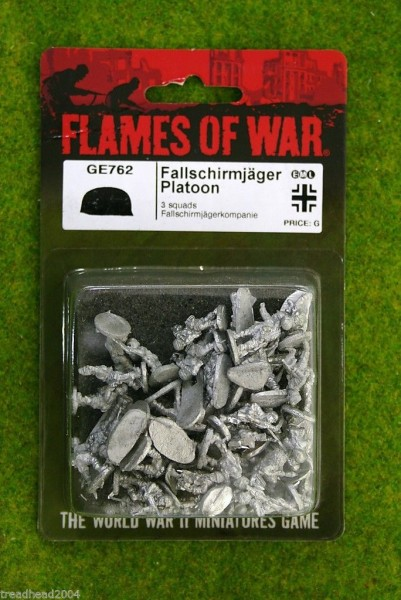 Flames of War GERMAN Fallschirmjager Platoon 15mm GE762