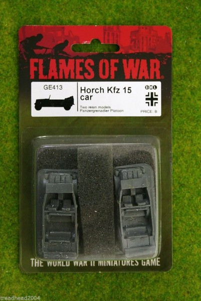 Flames of War GERMAN Horch KFZ15 Car 15mm GE413